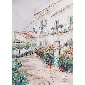 The Garden   Fine Art Watercolor